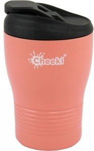 Cheeki Insulated Reusable Coffee Cup Coral 240ml
