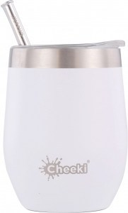 Cheeki Insulated Wine Tumbler with Straw Spirit White 320ml