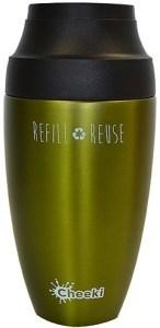 Cheeki Stainless Steel Coffee Mug Olive 350ml