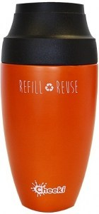 Cheeki Stainless Steel Coffee Mug Orange 350ml