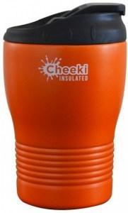 Cheeki Stainless Steel Insulated Coffee Cup Orange 240ml