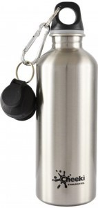 Cheeki Stainless Steel Silver Bottle 500ml