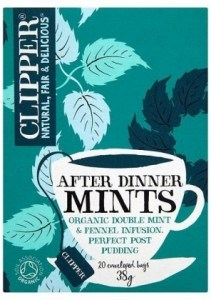 Clipper After Dinner Mints - Organic Double Mint & Fennel Infusion 20 Teabags