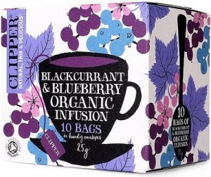 Clipper Blackcurrant & Blueberry Tea 10Teabags