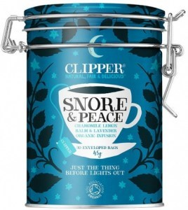 Clipper Caddy Snore & Peace - Organic Chamomile, Lemon Balm & Lavender Infusion 30Teabags