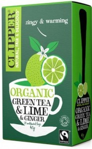 Clipper Fair Trade Organic Green Tea & Lime & Ginger 20Teabags