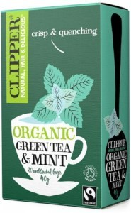 Clipper Fair Trade Organic Green Tea with Mint 20Teabags