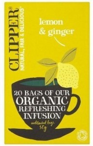 Clipper Organic Refreshing Infusion - Lemon & Ginger 20 Teabags