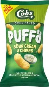 Cobs Corn Puffs Sour Cream & Chives  15x120g