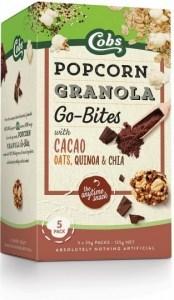 Cobs Granola Go-Bites Cacao Popcorn (5Bags) 6x125g