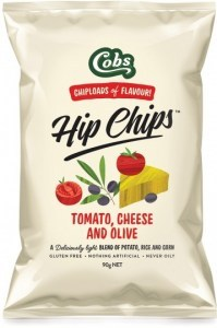 Cobs Hip Chips Tomato, Cheese & Olive  8x90g
