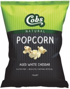 Cobs Natural Aged White Cheddar Popcorn  12x100g