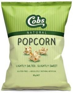 Cobs Natural Lightly Salted, Slightly Sweet Popcorn  12x30g