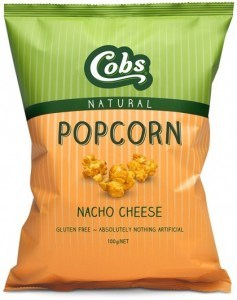 Cobs Natural Nacho Cheese Popcorn  12x100g