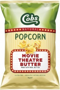 Cobs Natural Popcorn Movie Theatre Butter  12x100g