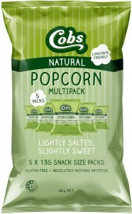 Cobs Natural Popcorn Multipack Lightly Salted, Slightly Sweet  (5Pk) 10x65g