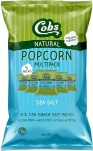 Cobs Natural Popcorn Multipack Sea Salt   (5Pk) 10x65g