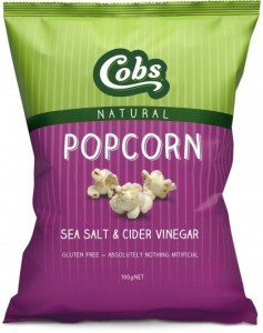Cobs Natural Sea Salt & Cider Vinegar Popcorn  12x100g