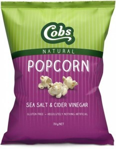 Cobs Natural Sea Salt & Cider Vinegar Popcorn  30x30g