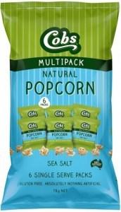 Cobs Natural Sea Salt  (6Pk) 9x78g