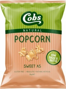 Cobs Natural Sweet As Popcorn  12x110g
