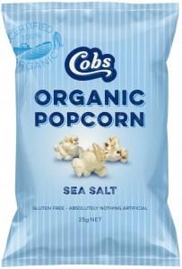 Cobs Organic Sea Salt Popcorn G/F 24x25g