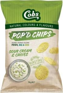 Cobs Pop'd Chips Sour Cream & Chives 12x110g