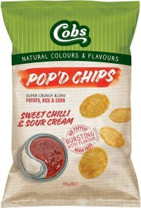 Cobs Pop'd Chips Sweet Chilli & Sour Cream 12x110g