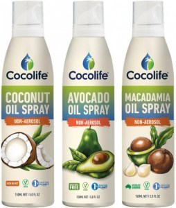Cocolife Non-Aersol Spray  Range Gift Pack (Coconut, Macadamia, Avocado)