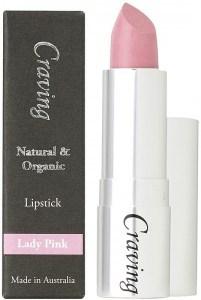 Craving Natural & Organic Lady Pink Lipstick