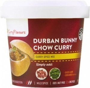 Curry Flavours Durban Bunny Chow Curry Spice Mix Tub 100g