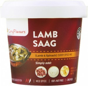 Curry Flavours Lamb Saag Curry Spice Mix Tub 100g