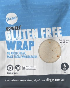 Diego's GoWell Gluten Free Wraps (6 Pack) 360g
