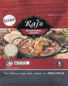 Diego's Raj's Traditional Chapati 258g