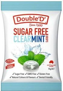 Double Dee Sugar Free Clear Mint Drops 70g