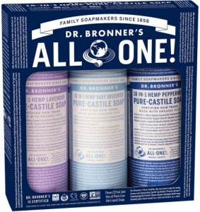 Dr Bronner's Cosmic Classics Pack (3x237ml Liquid Soap)
