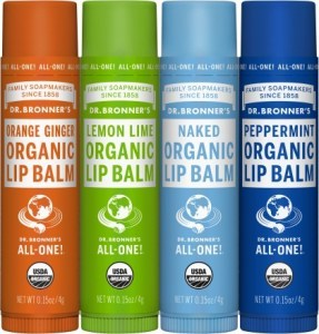 Dr Bronner's Lip Balm (Mixed 12x4 Varietys) 48x4g