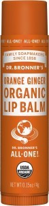 Dr Bronner's Lip Balm Orange Ginger 4g