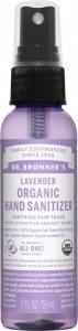 Dr Bronner's Organic Hand Sanitizer Spray Lavender 59ml