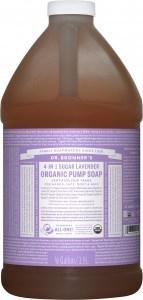 Dr Bronner's Organic Pump Soap Lavender 1.89L