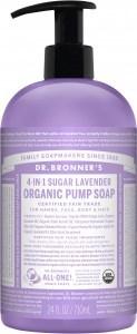 Dr Bronner's Organic Pump Soap Lavender 710ml