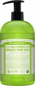 Dr Bronner's Organic Pump Soap Lemongrass Lime 710ml