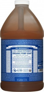 Dr Bronner's Organic Pump Soap Peppermint 1.89L