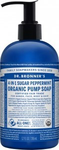 Dr Bronner's Organic Pump Soap Peppermint 355ml