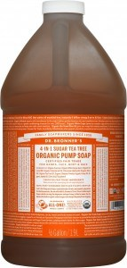 Dr Bronner's Organic Pump Soap Tea Tree 1.89L