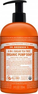 Dr Bronner's Organic Pump Soap Tea Tree 710ml