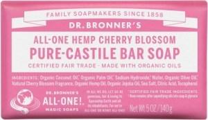 Dr Bronner's Pure Castile Bar Soap Cherry Blossom 140g