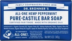 Dr Bronner's Pure Castile Bar Soap Peppermint 140g