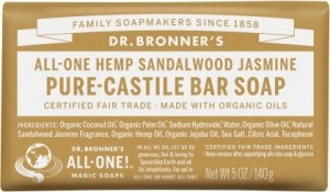Dr Bronner's Pure Castile Bar Soap Sandalwood Jasmine 140g