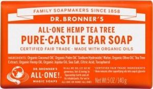 Dr Bronner's Pure Castile Bar Soap Tea Tree 140g